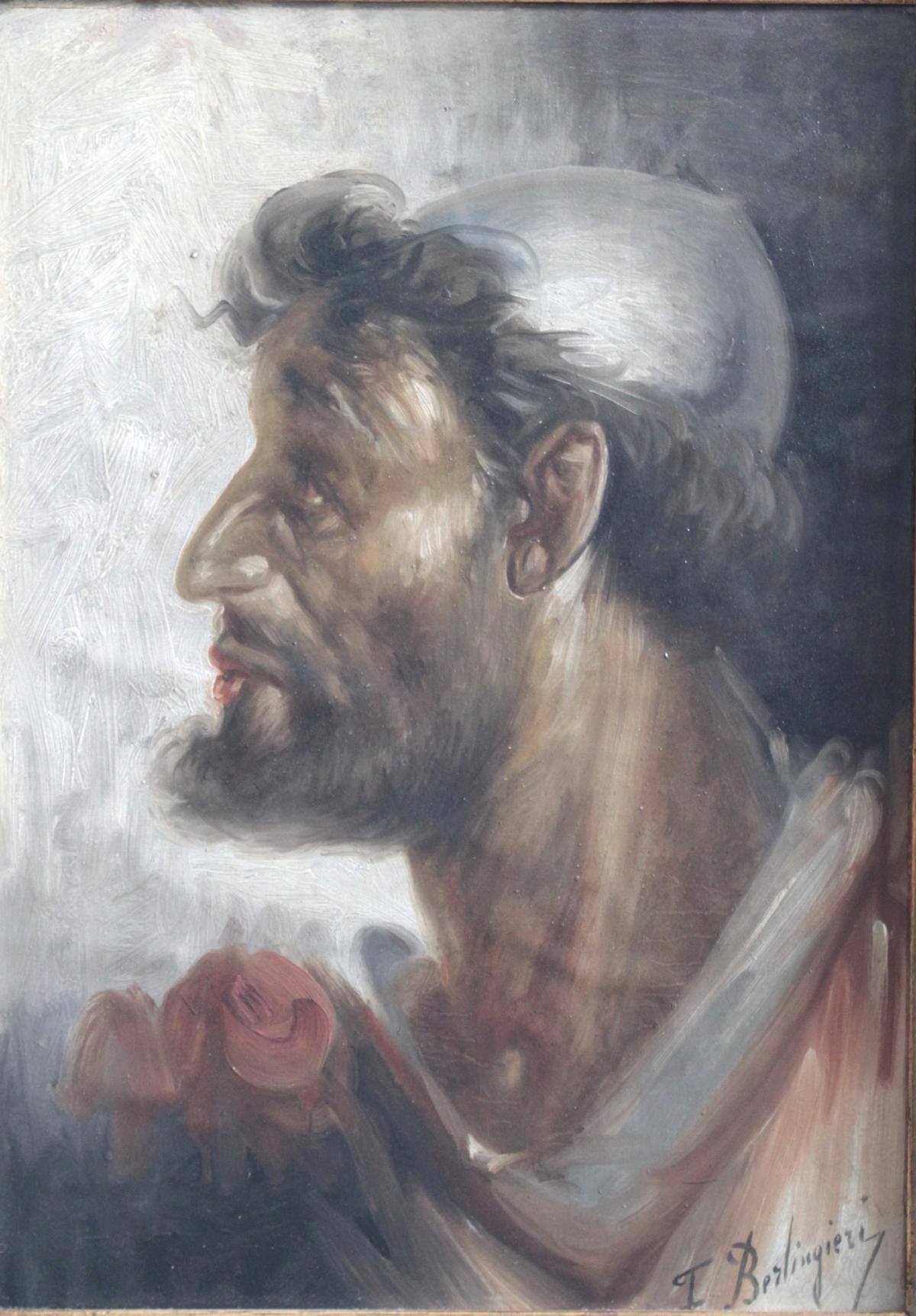 F. Berlingieri ? – ?, Herrenporträt im Profil-2