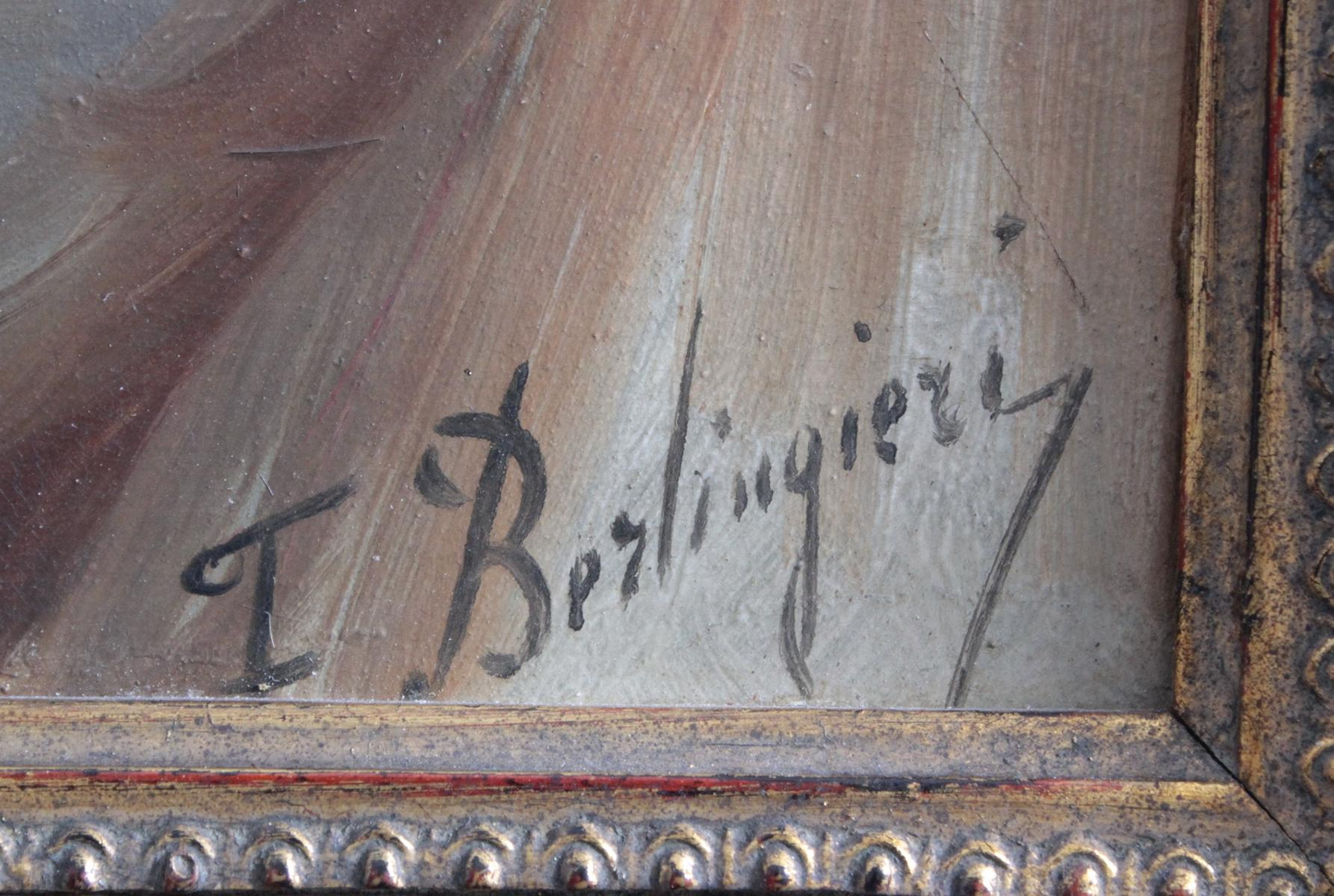 F. Berlingieri ? – ?, Herrenporträt im Profil-3