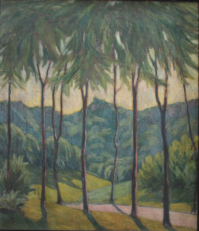 Otto Arndts 1879-?, Sommerliche Waldlandschaft in Süddeutschland-2
