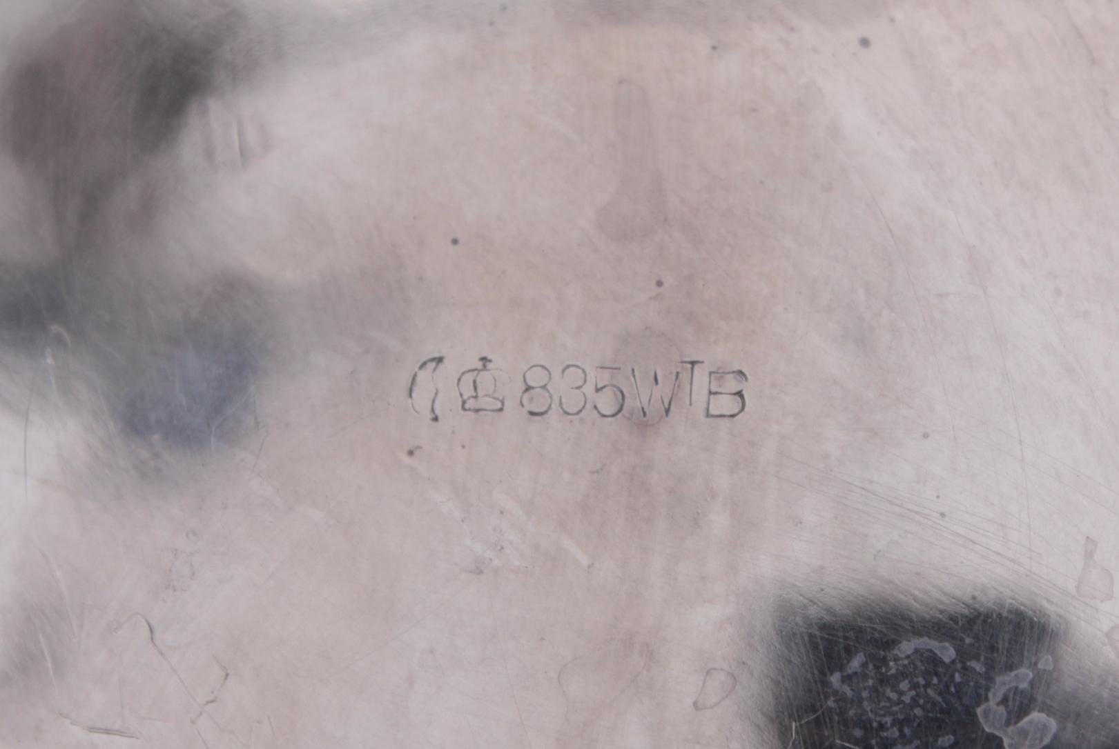 Anbietschale, 800er Silber, punziert  WTB-5
