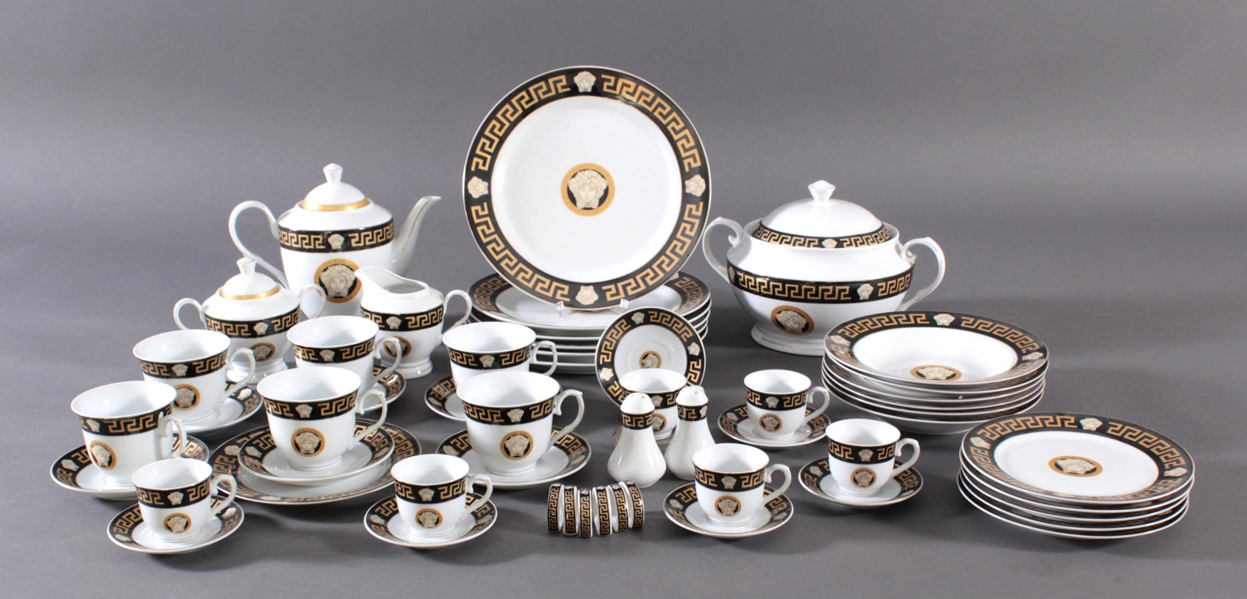Großes Tafelservice. Da Vinci Collection – 'Nero' Black-Gold – Limited Edition