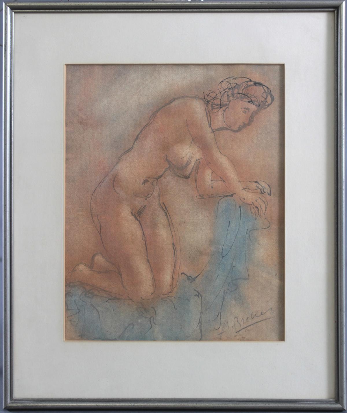 Arno Breker 1900 – 1991, kniender Frauenakt