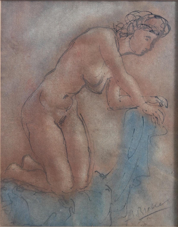 Arno Breker 1900 – 1991, kniender Frauenakt-2
