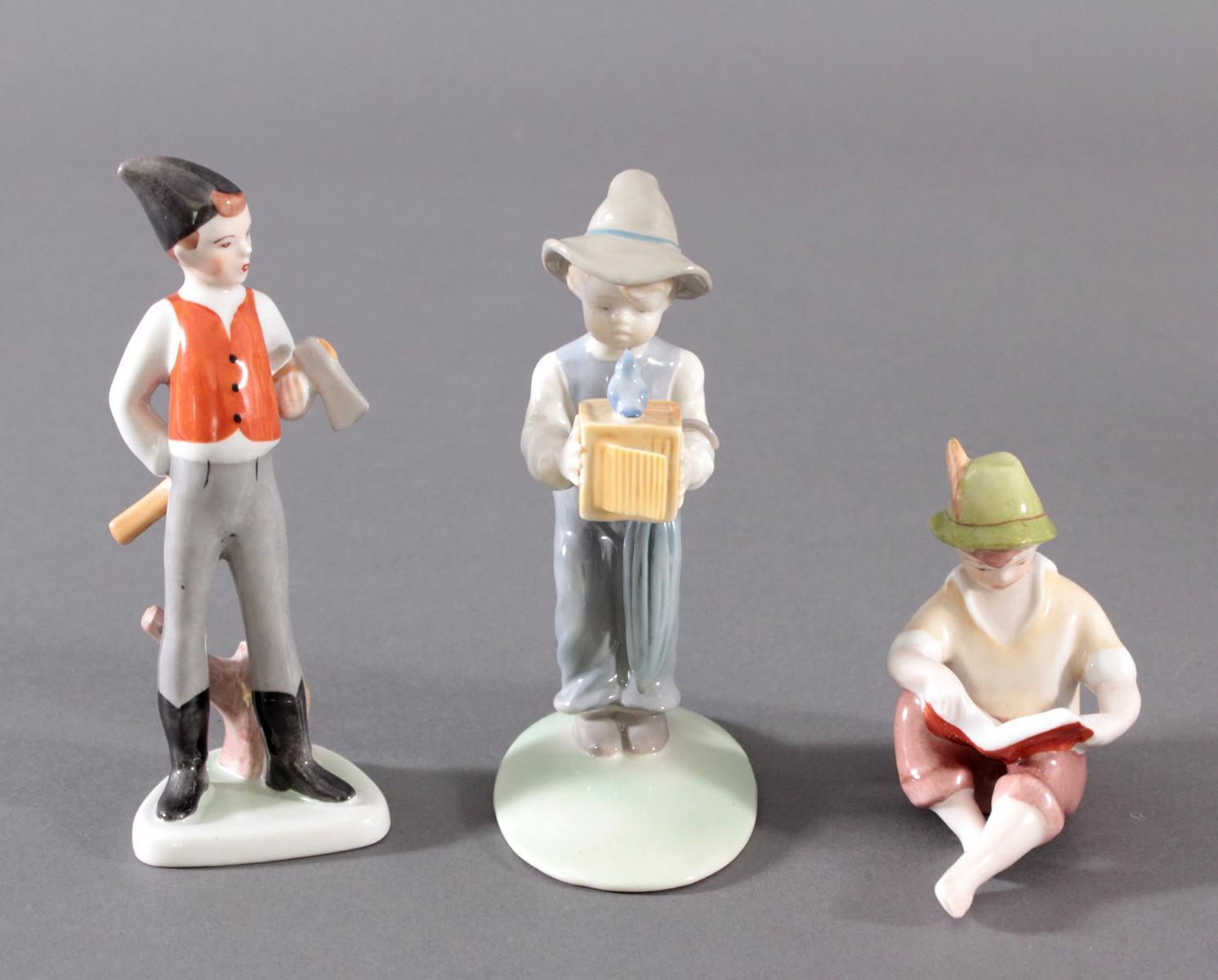 3 Porzellan-Figuren unterschiedliche Hersteller