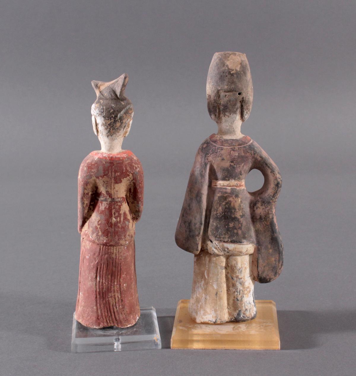 China TANG-Dynastie, 2 Figuren aus Ton-2