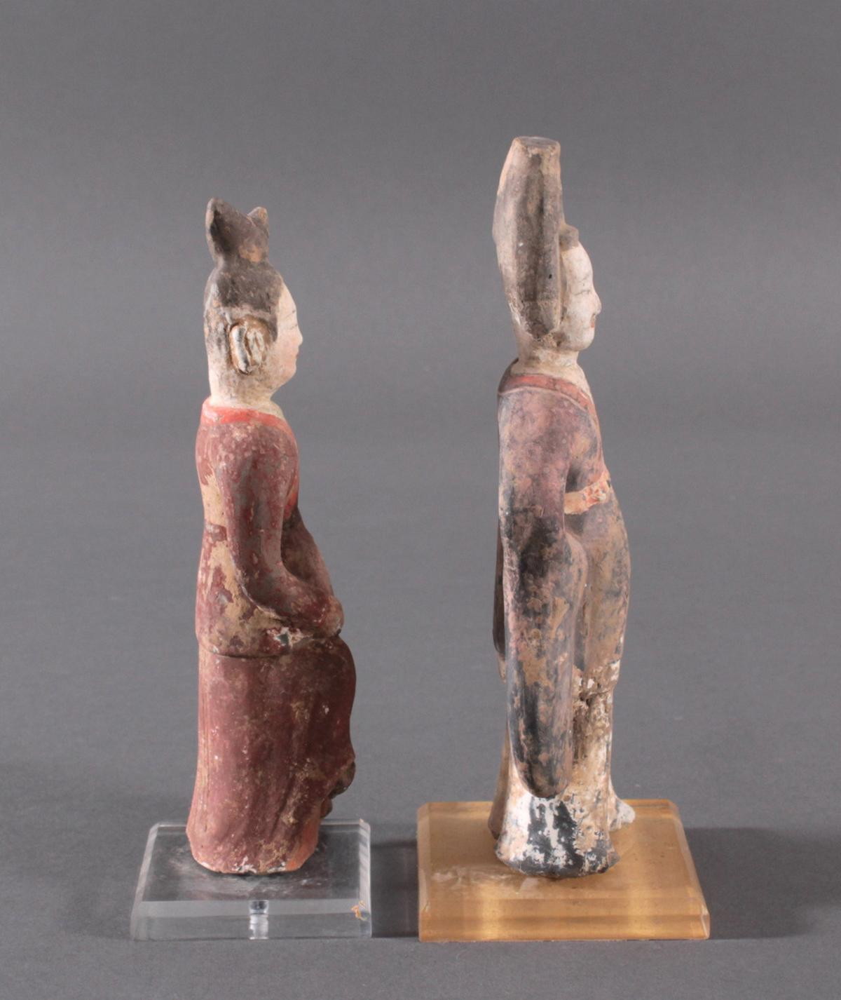 China TANG-Dynastie, 2 Figuren aus Ton-3