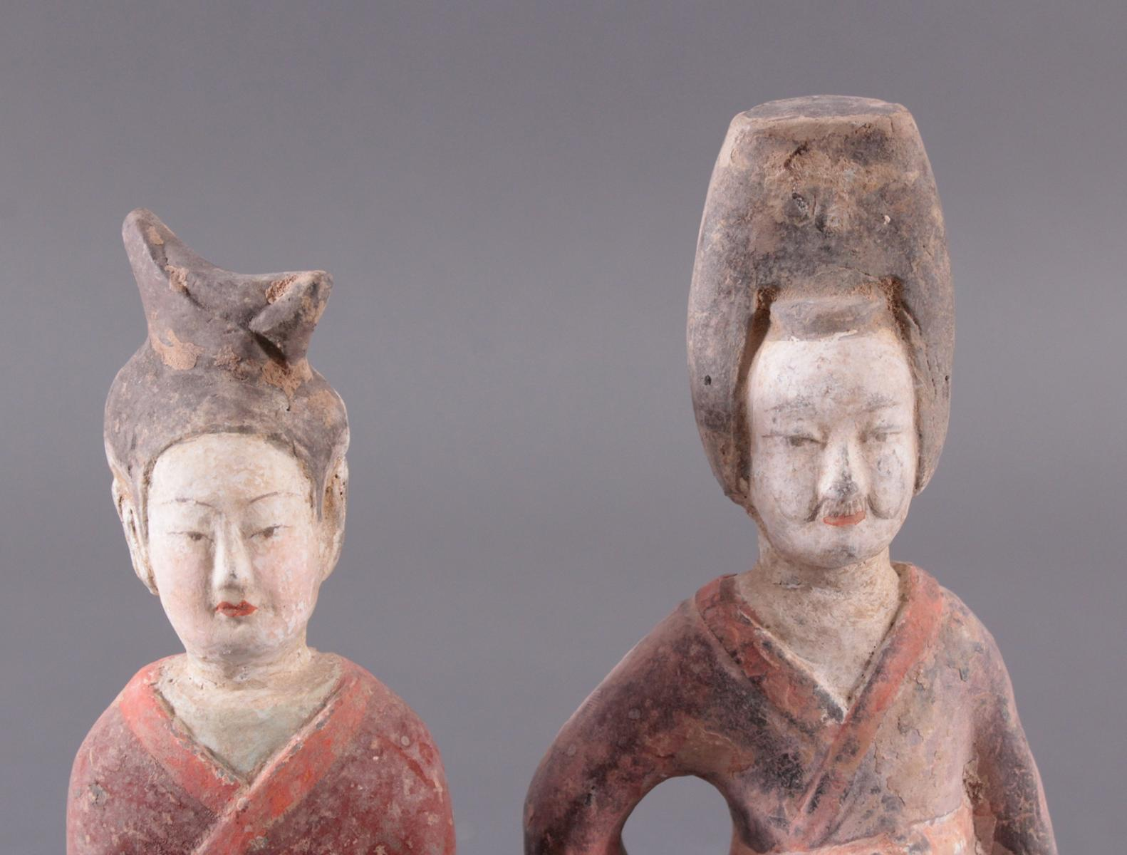 China TANG-Dynastie, 2 Figuren aus Ton-5