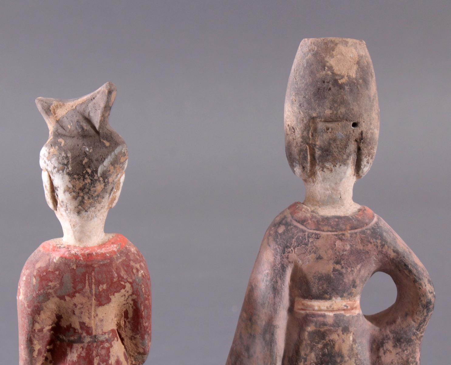 China TANG-Dynastie, 2 Figuren aus Ton-6