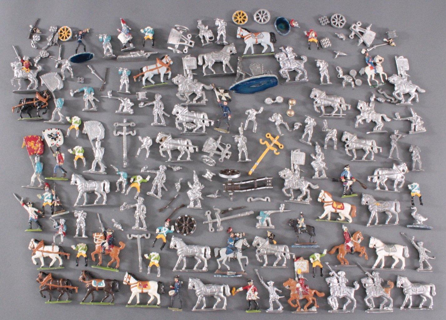 Sammlung Zinnfiguren, weit über 60 Stück