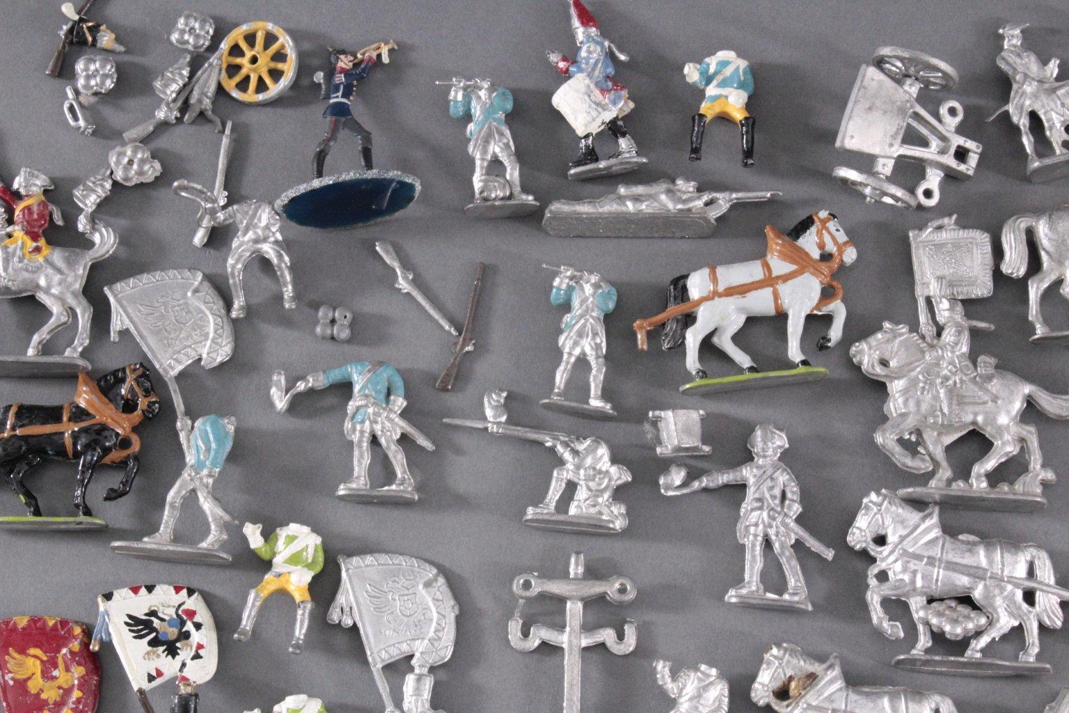 Sammlung Zinnfiguren, weit über 60 Stück-2