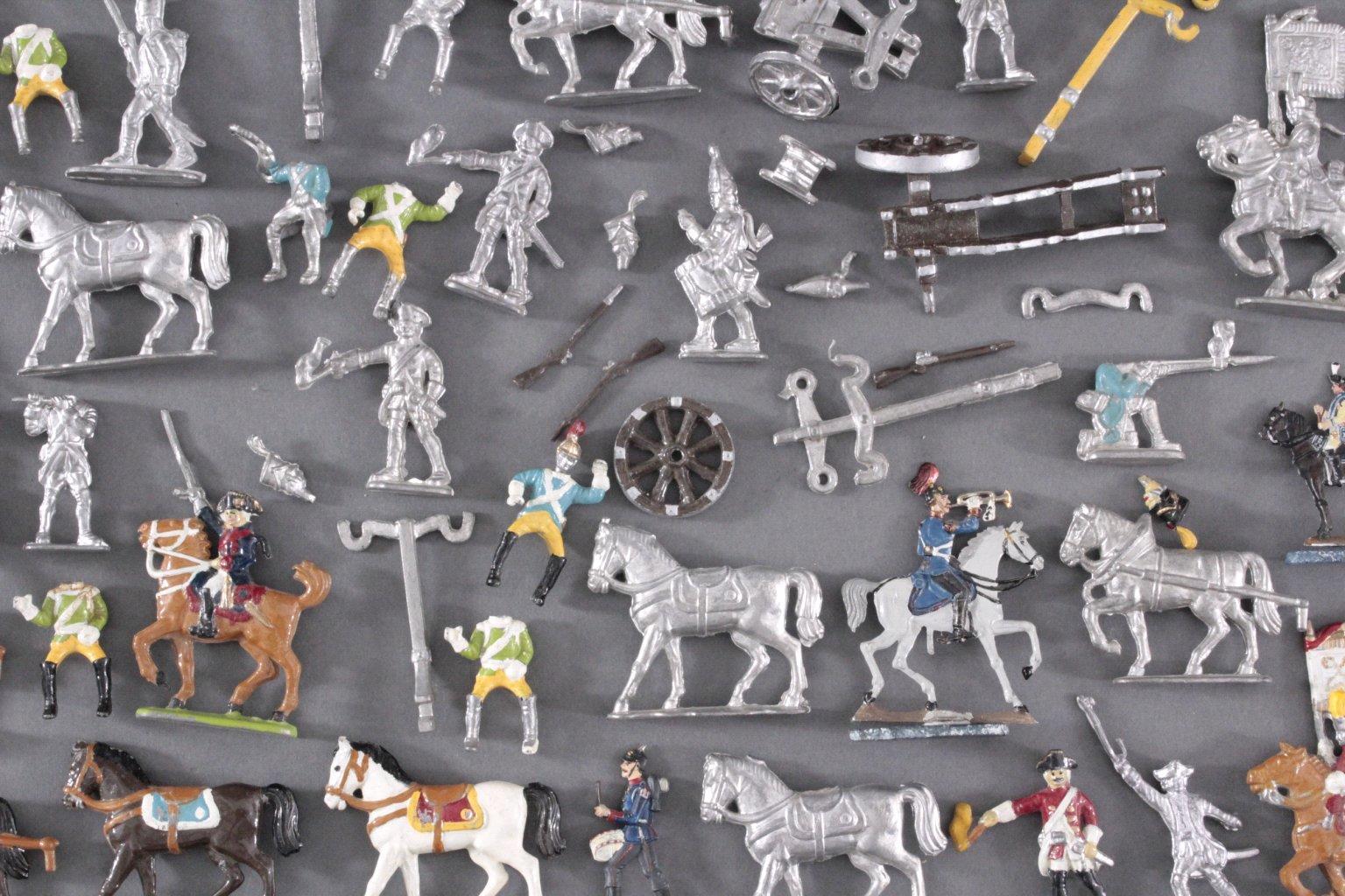Sammlung Zinnfiguren, weit über 60 Stück-3
