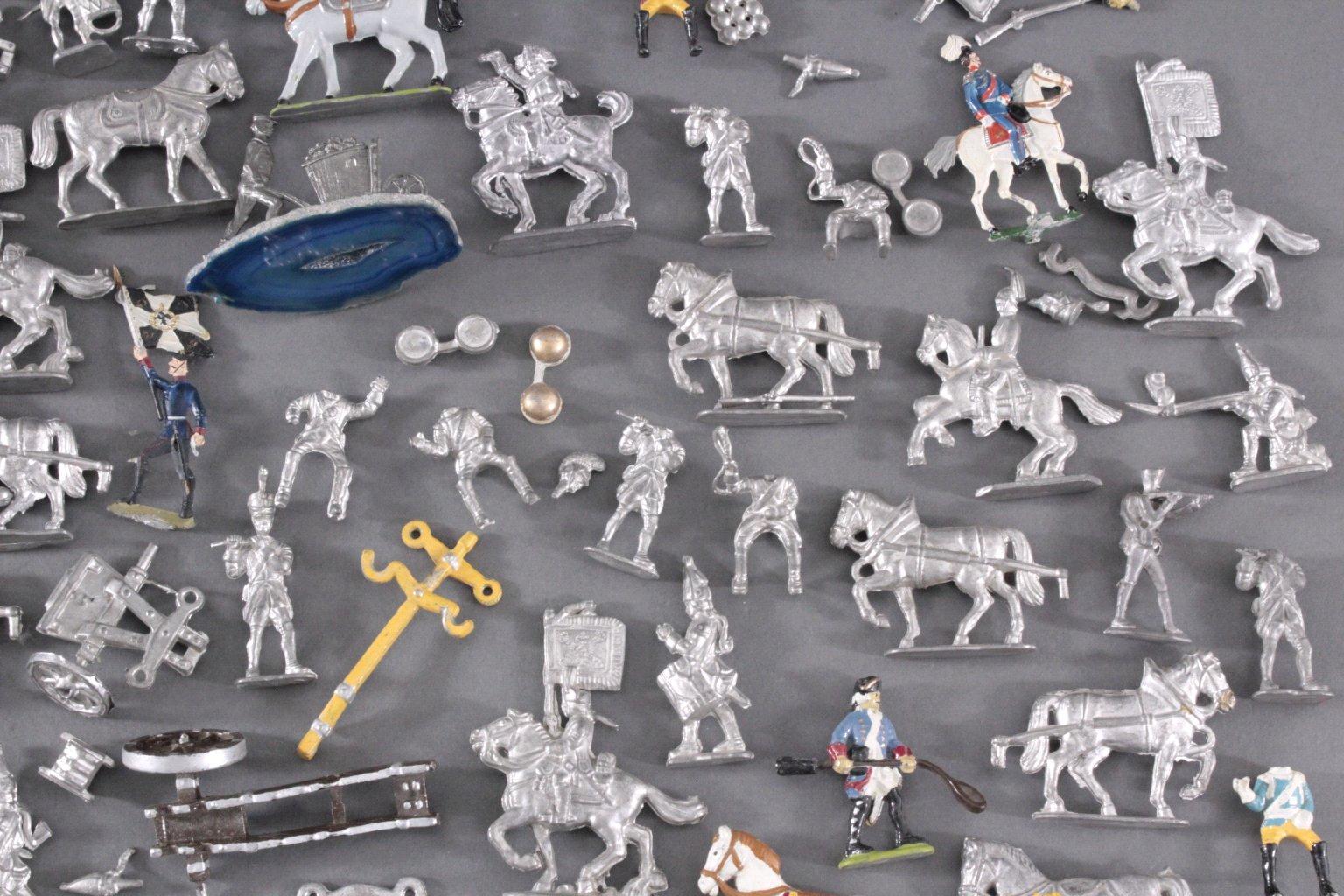 Sammlung Zinnfiguren, weit über 60 Stück-4