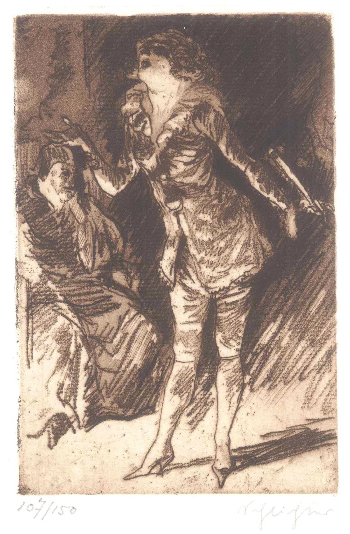Rudolf Schlichter (1890-1955). Die Sängerin und der Abbé