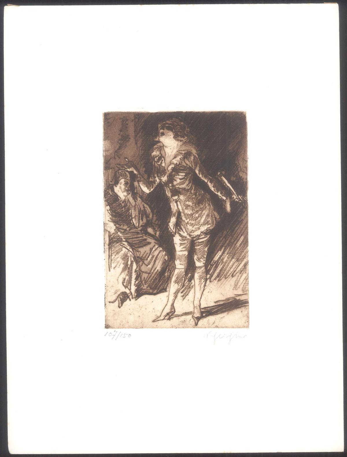Rudolf Schlichter (1890-1955). Die Sängerin und der Abbé-2