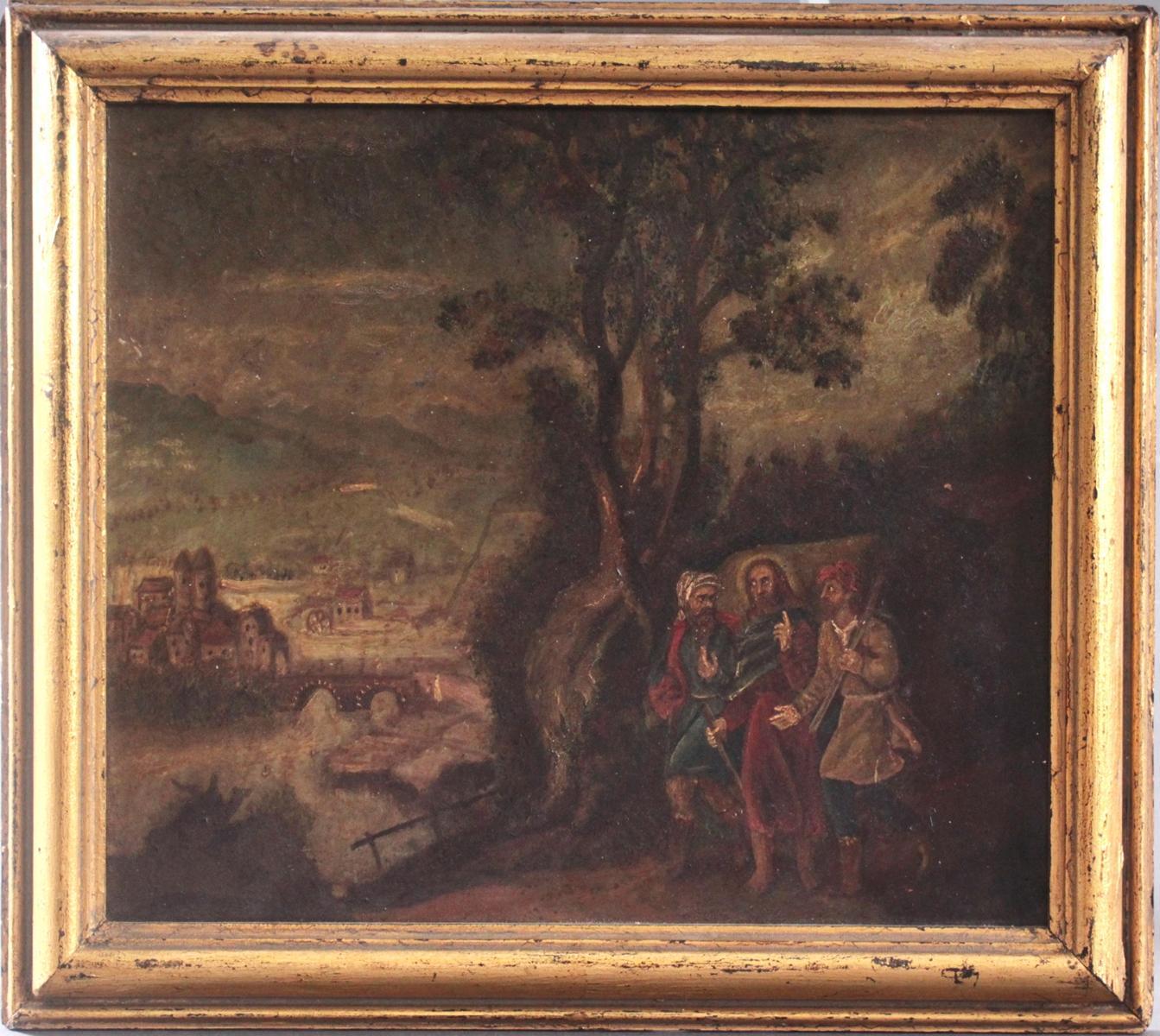 Religiöses Gemälde, 19. Jahrhundert. Unbekannter Künstler