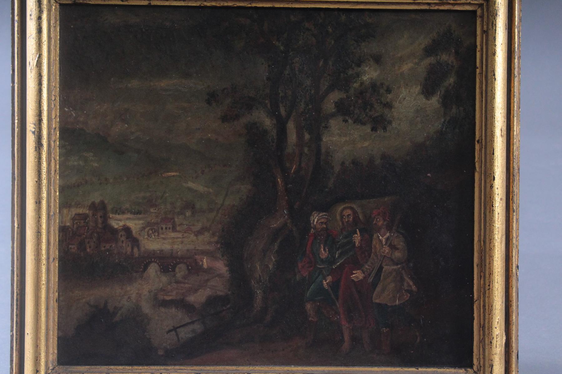 Religiöses Gemälde, 19. Jahrhundert. Unbekannter Künstler-2