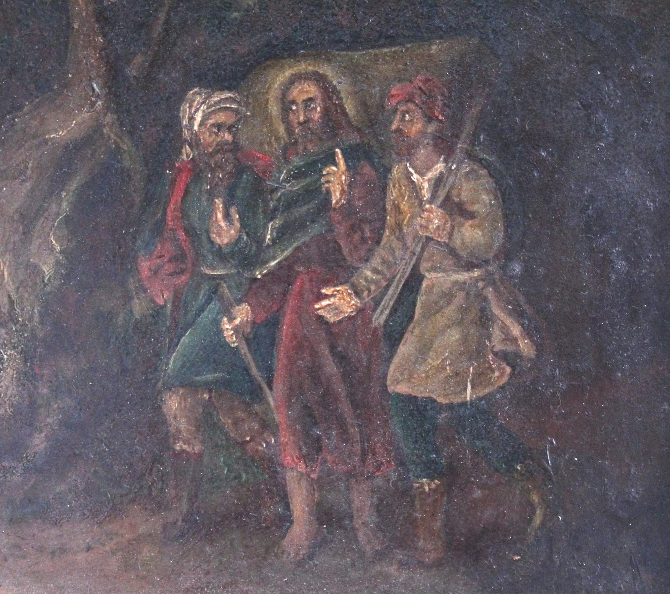 Religiöses Gemälde, 19. Jahrhundert. Unbekannter Künstler-4