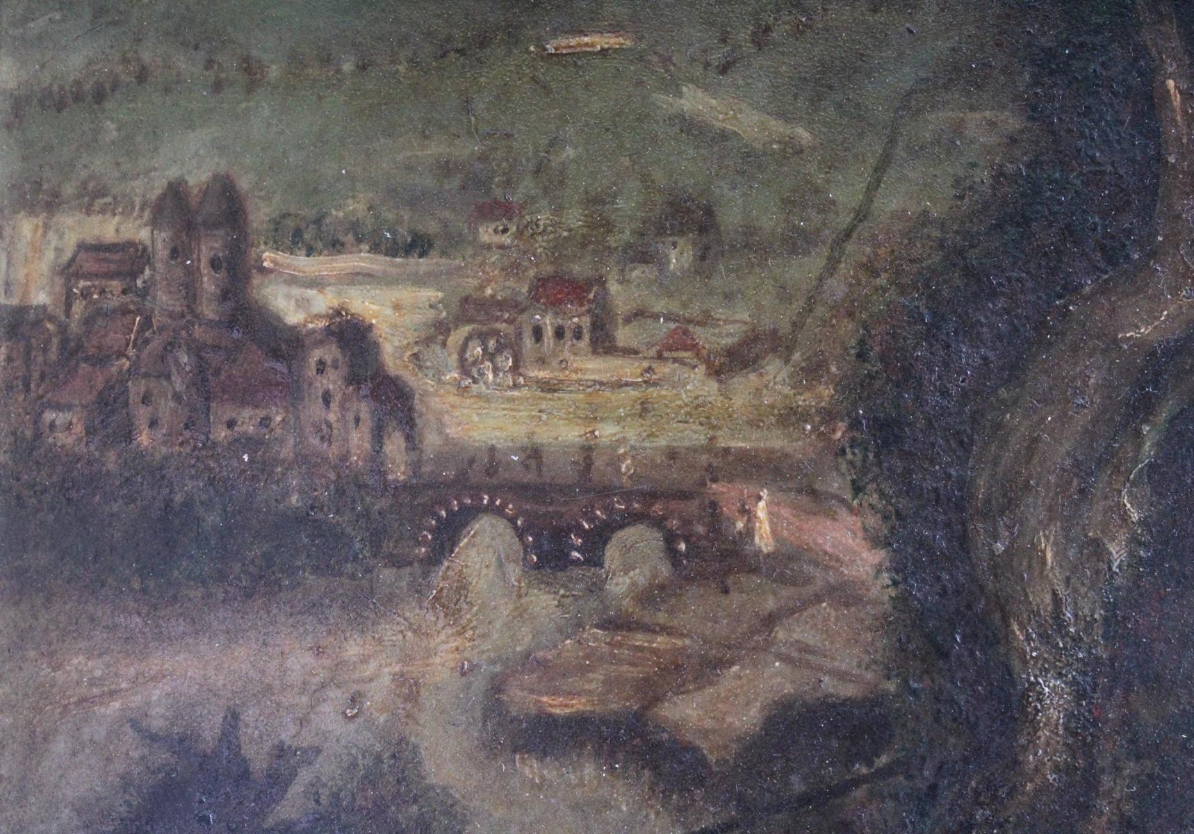Religiöses Gemälde, 19. Jahrhundert. Unbekannter Künstler-5