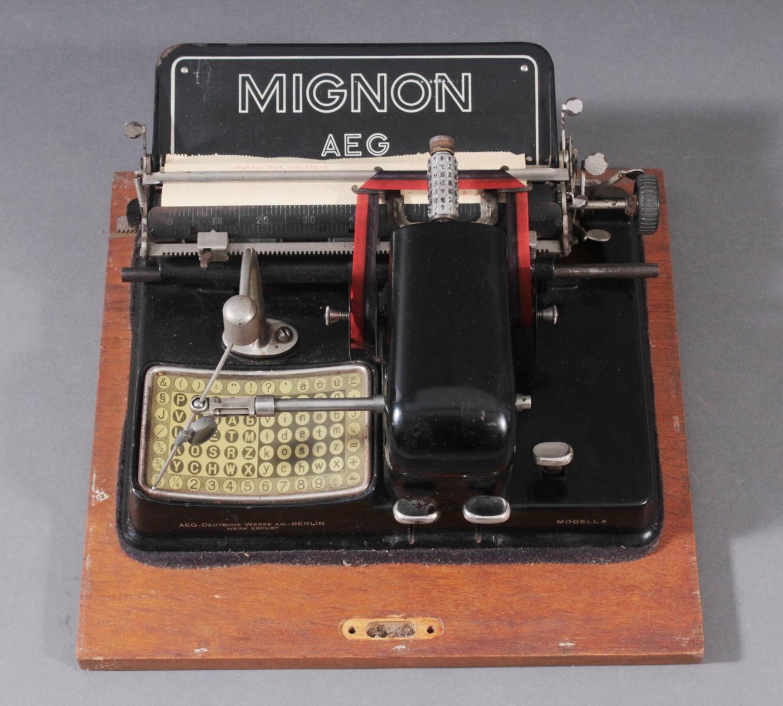 Mignon Schreibmaschine von AEG aus den 1920er Jahren-2