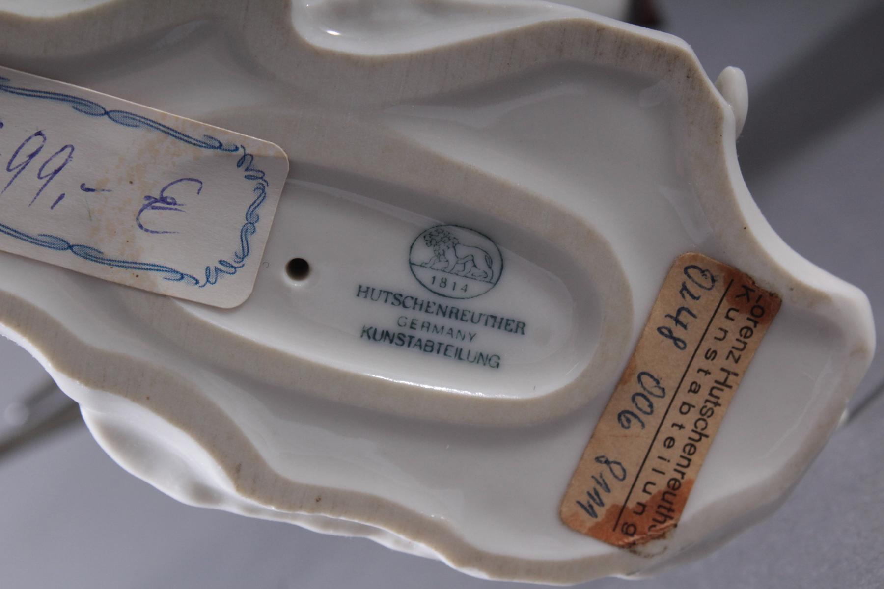 Hutschenreuther Porzellangruppe, 'Rauchschwalben im Flug'-7
