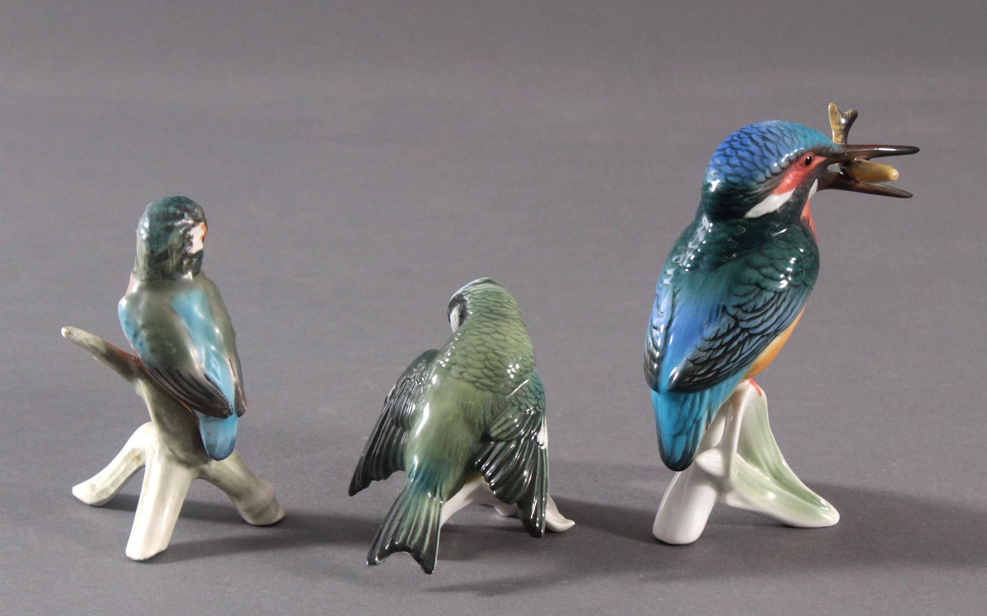 Drei Porzellan Vögel, ENS und Goebel-3