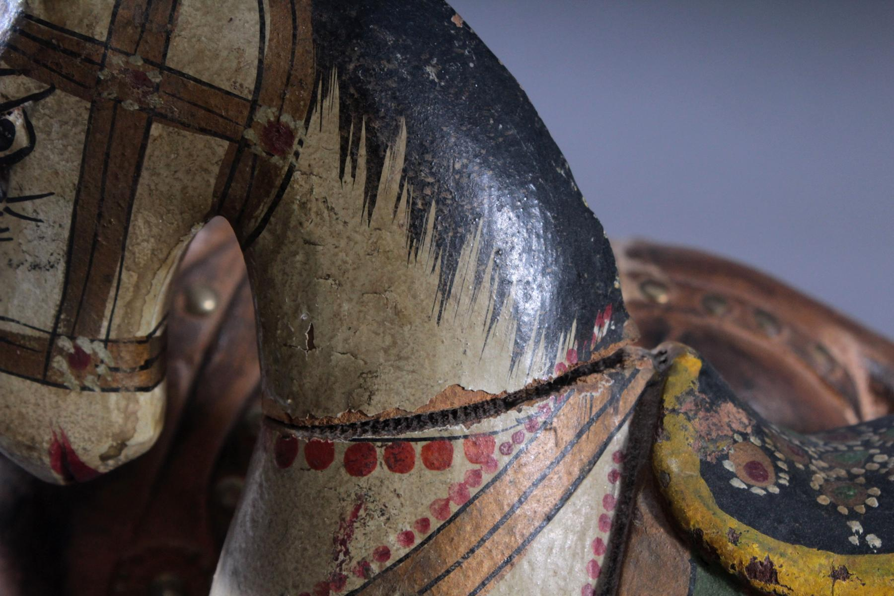 2 Pferdeskulpturen aus Holz 1. Hälfte 20. Jh.-6