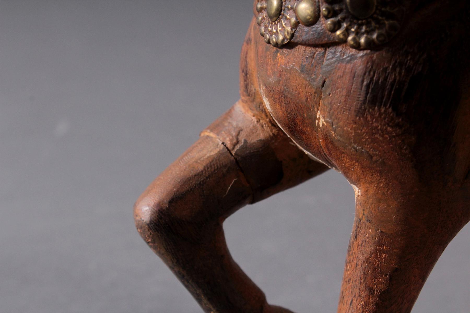 2 Pferdeskulpturen aus Holz 1. Hälfte 20. Jh.-7