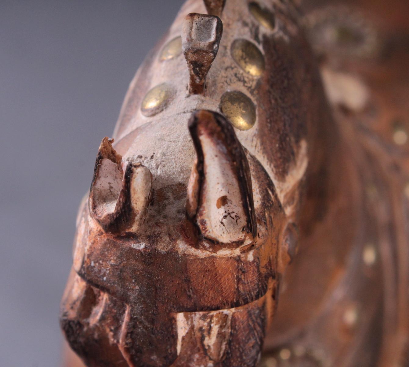 2 Pferdeskulpturen aus Holz 1. Hälfte 20. Jh.-9