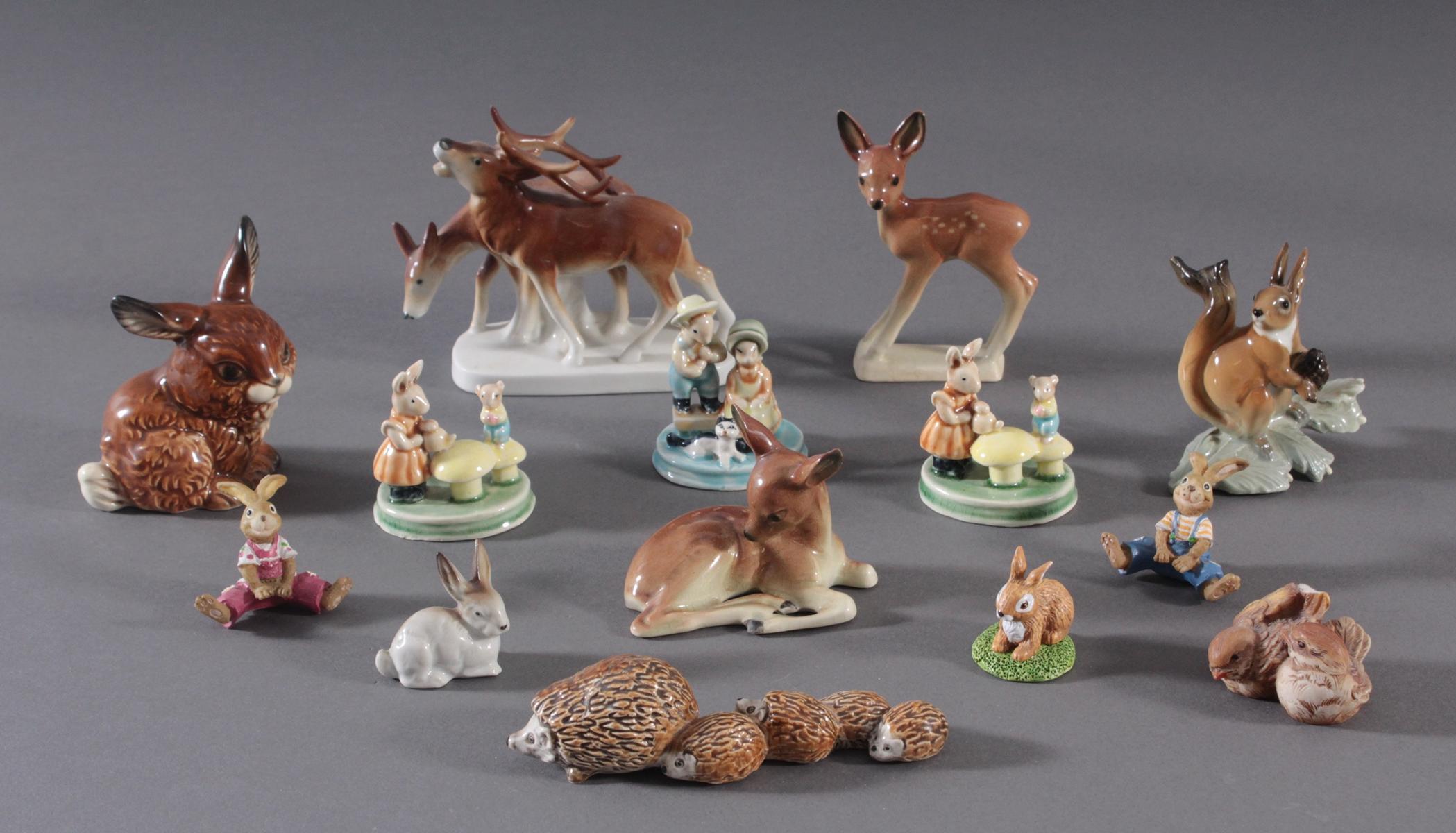 14 diverse Tierfiguren
