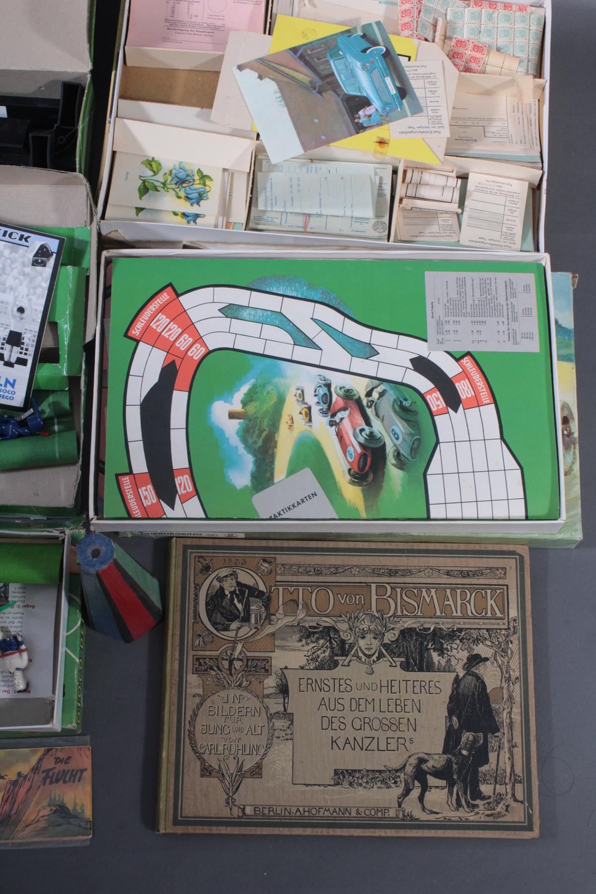 Spielesammlung aus den 50er/60er Jahren, Comics und Bücher-4