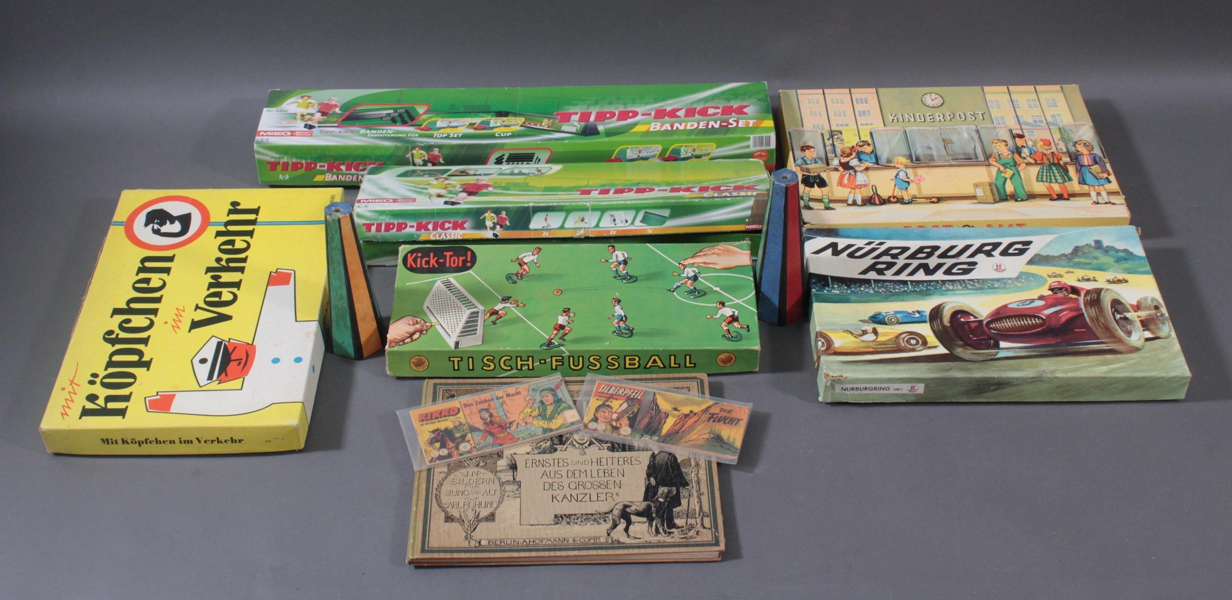 Spielesammlung aus den 50er/60er Jahren, Comics und Bücher-5