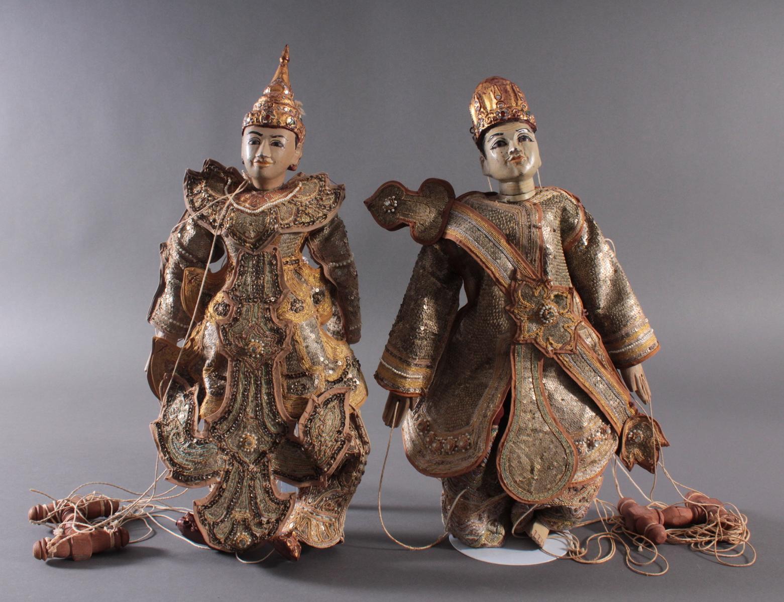 Paar indonesische Marionetten