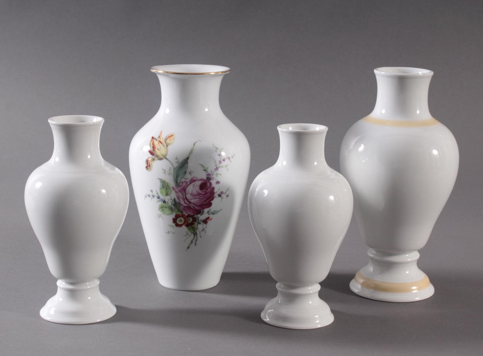 4 Vasen der Manufaktur Höchst