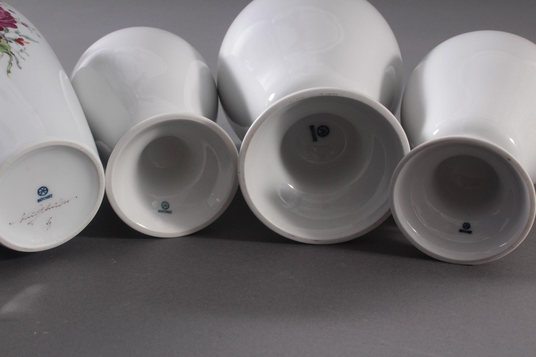 4 Vasen der Manufaktur Höchst-3