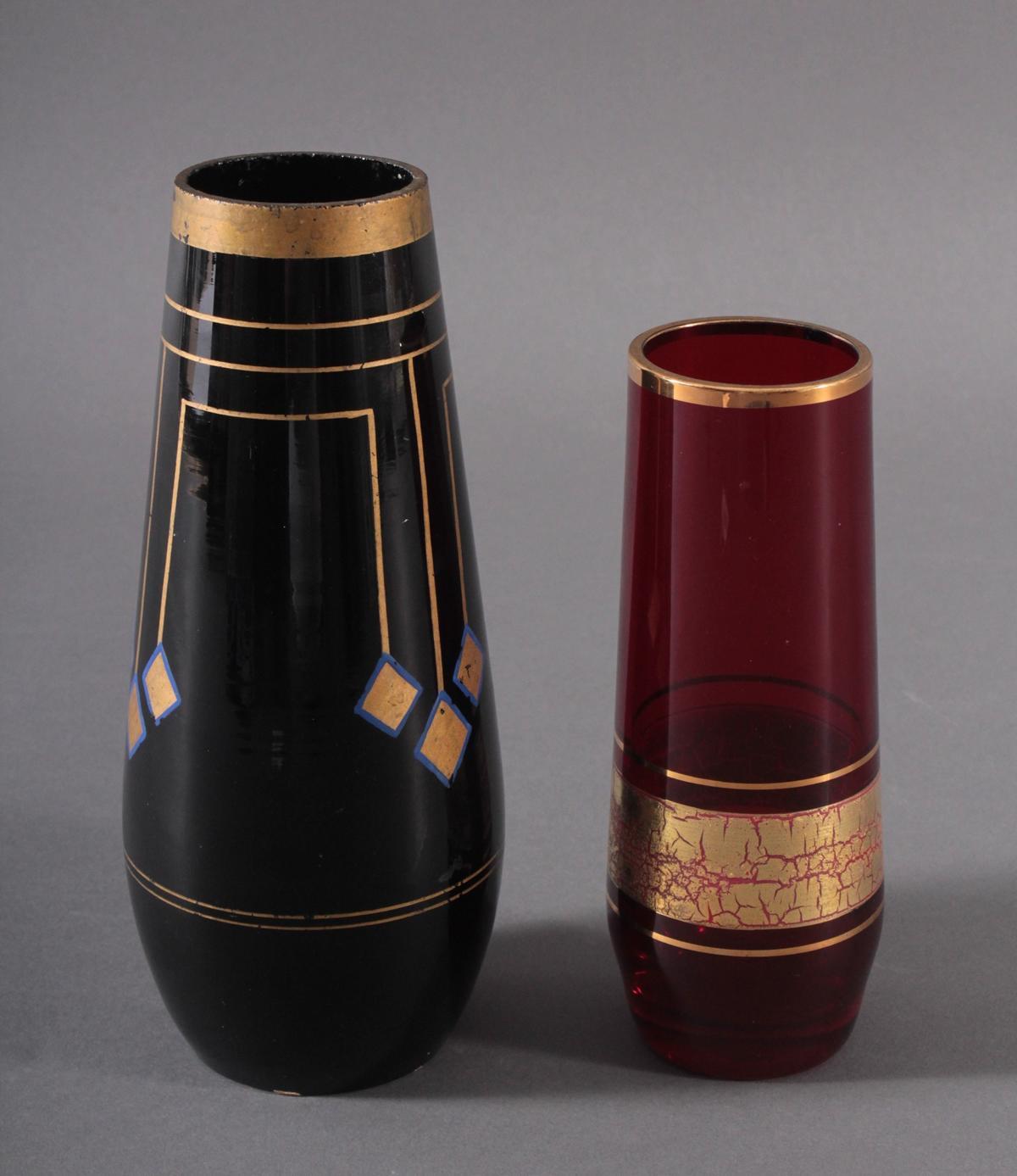 Zwei Glasvasen, Jugendstil und Barthmann-2