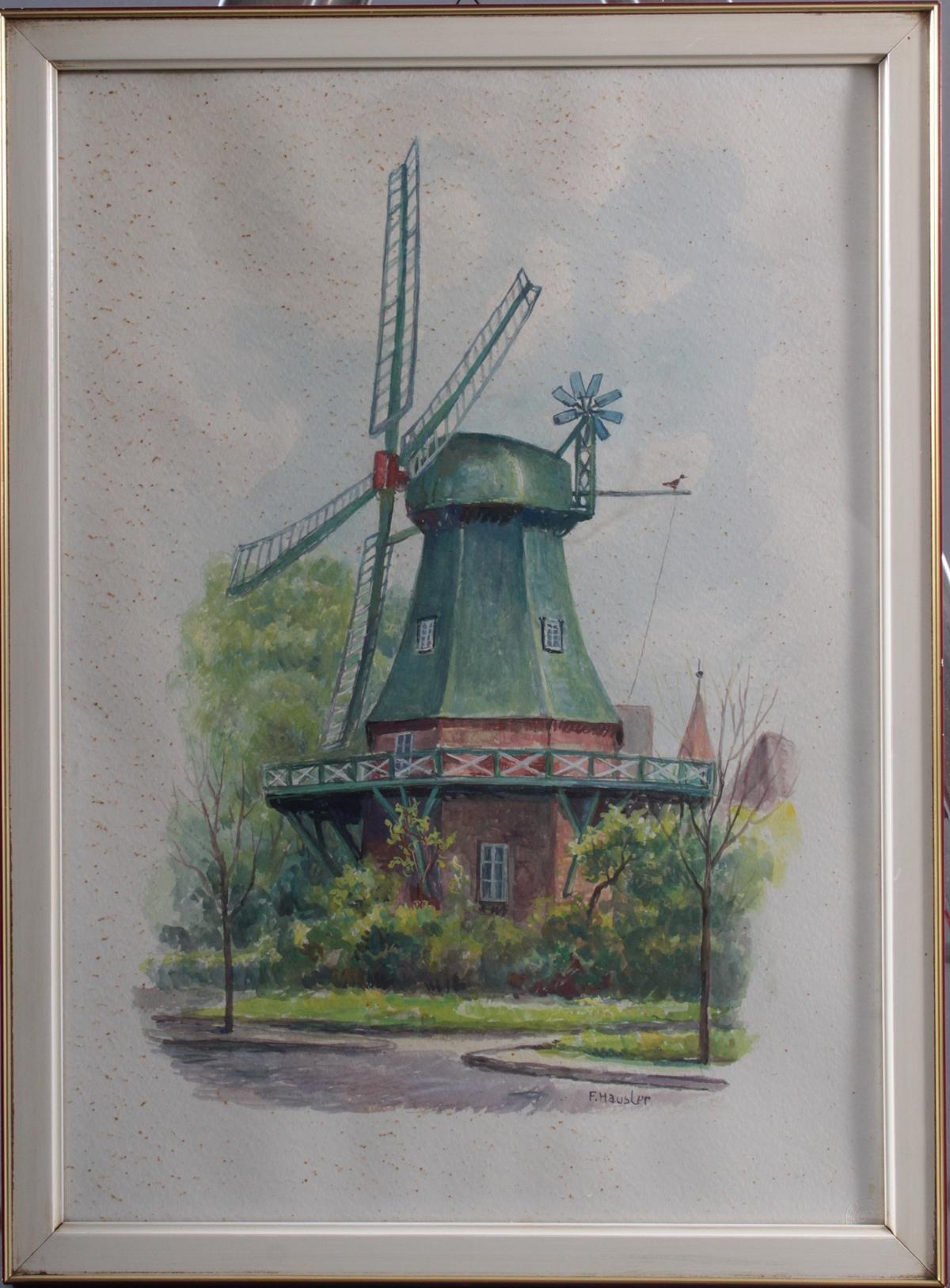 Franz Hausler (1846-1904), 'Windmühle'