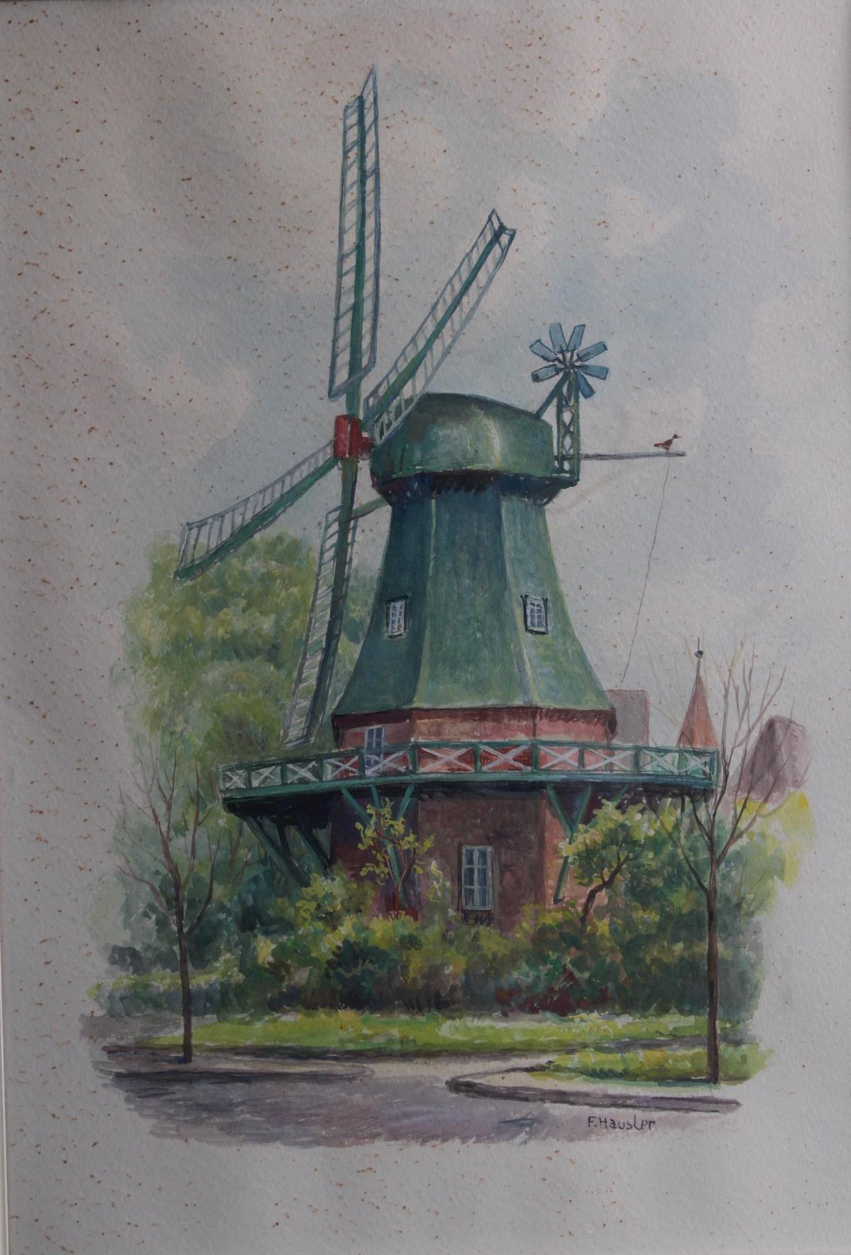 Franz Hausler (1846-1904), 'Windmühle'-2
