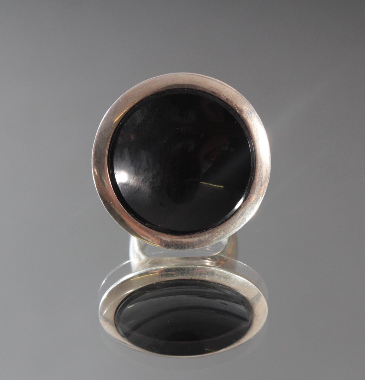 Sterlingsilber-Ring mit Onyx