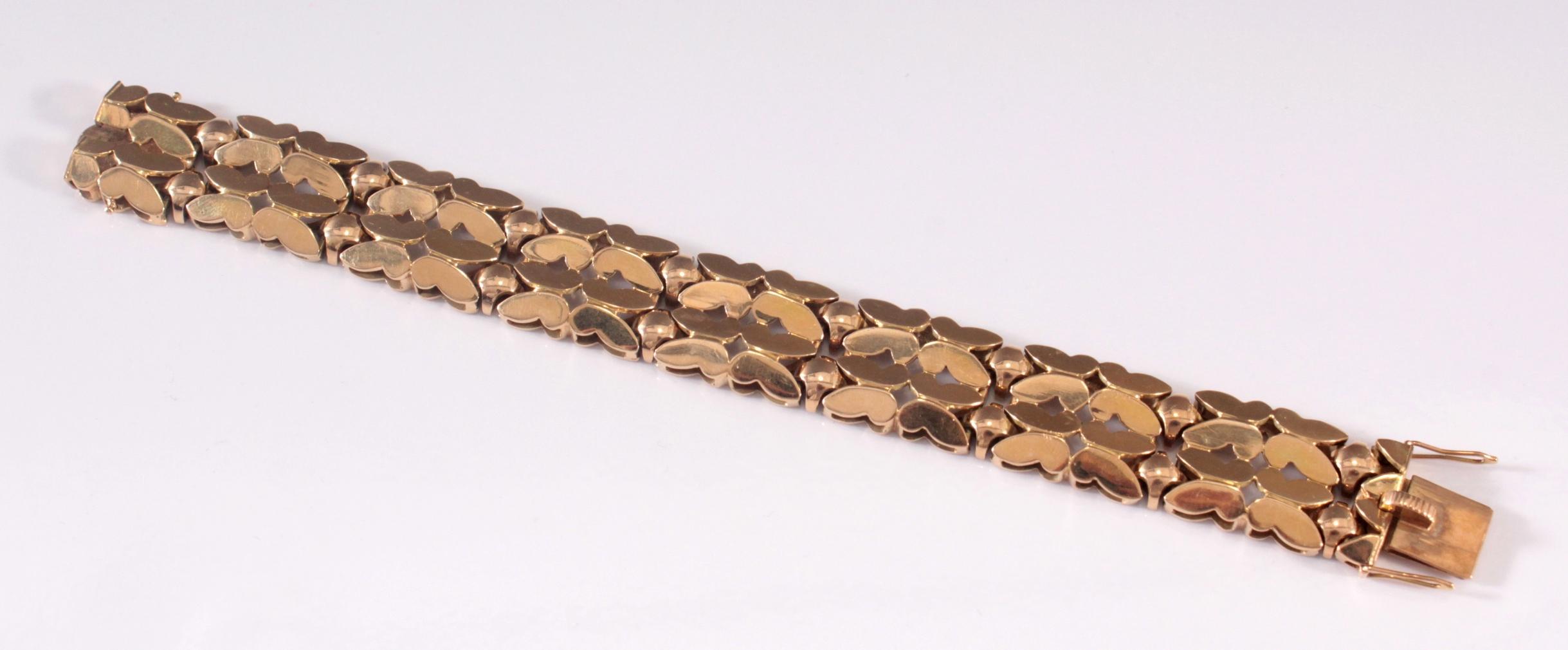 Damenarmband aus 14 Karat Gelbgold-2