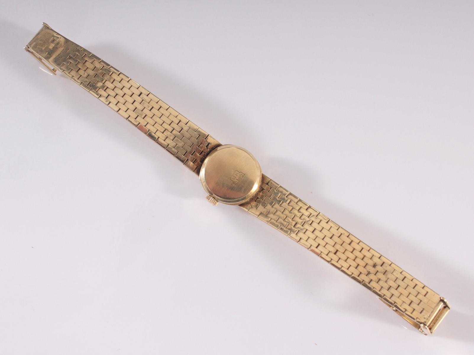 Damenarmbanduhr der Marke Drafa aus 14 Karat Gelbgold-3