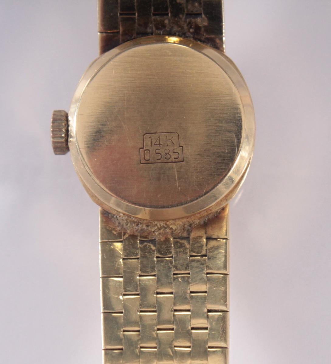 Damenarmbanduhr der Marke Drafa aus 14 Karat Gelbgold-4