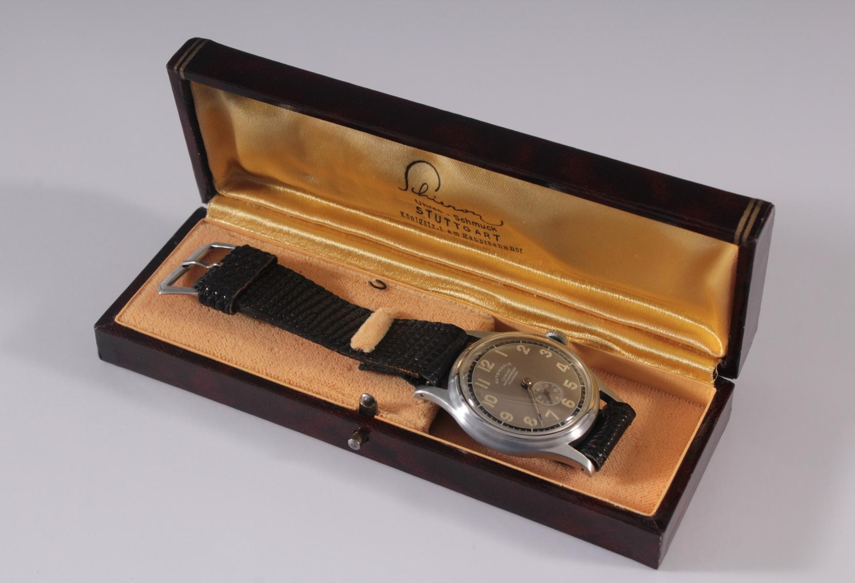 Herrenarmbanduhr der Marke Comint Automatic-6