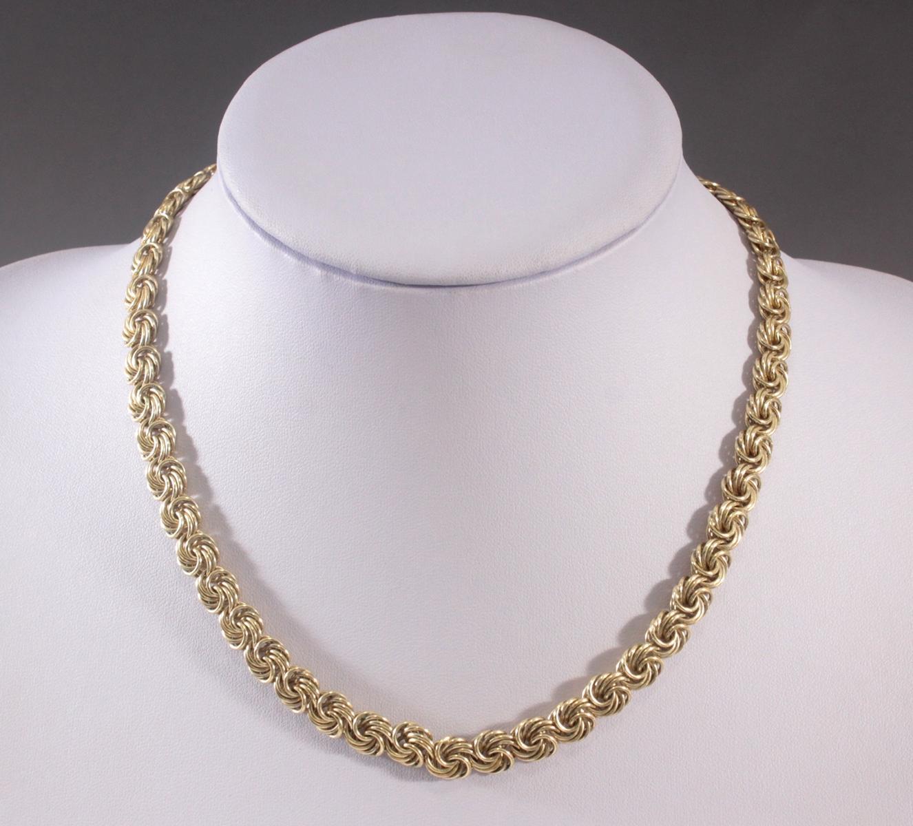 Collier aus 925er Sterlingsilber vergoldet