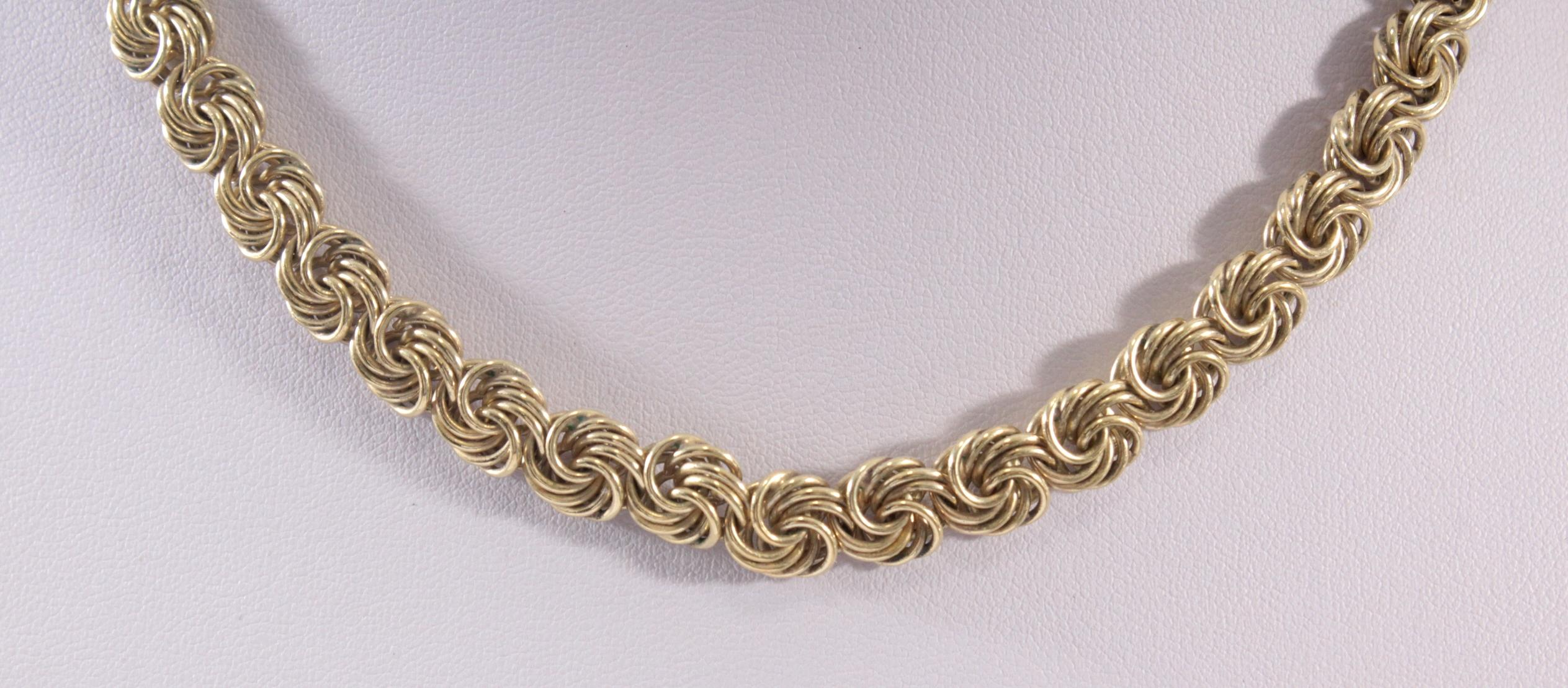 Collier aus 925er Sterlingsilber vergoldet-2