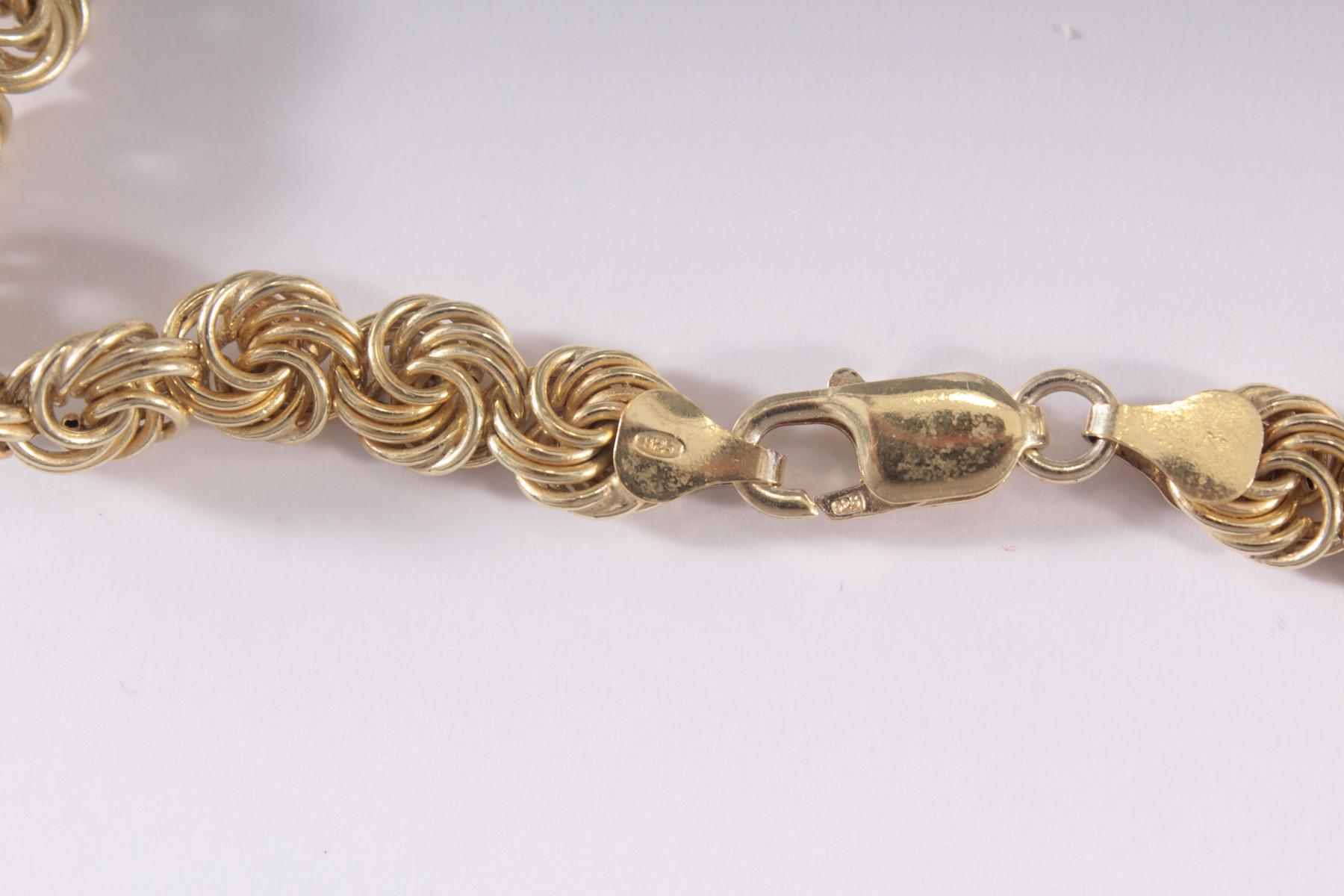 Collier aus 925er Sterlingsilber vergoldet-3