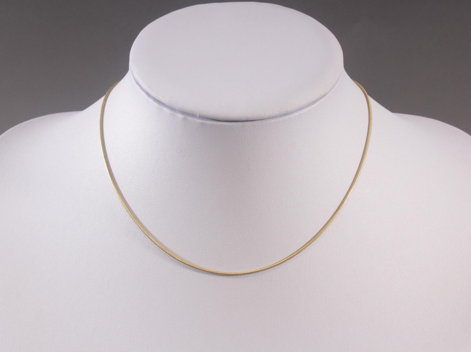 Halskette aus 8 Karat Gelbgold