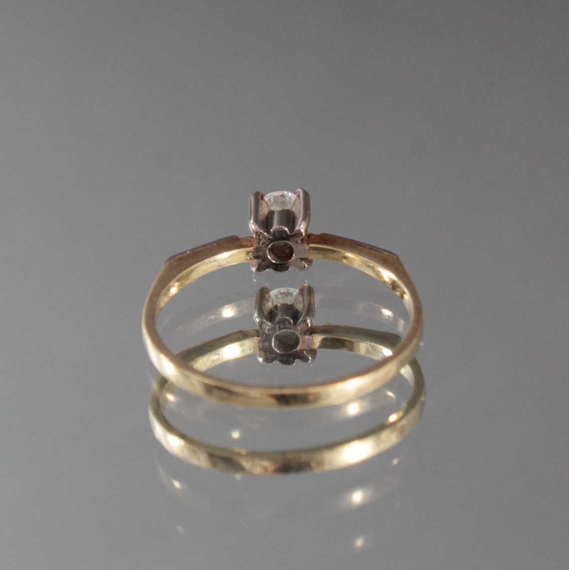 Damenring mit Diamant, 14 Karat Gelbgold-4