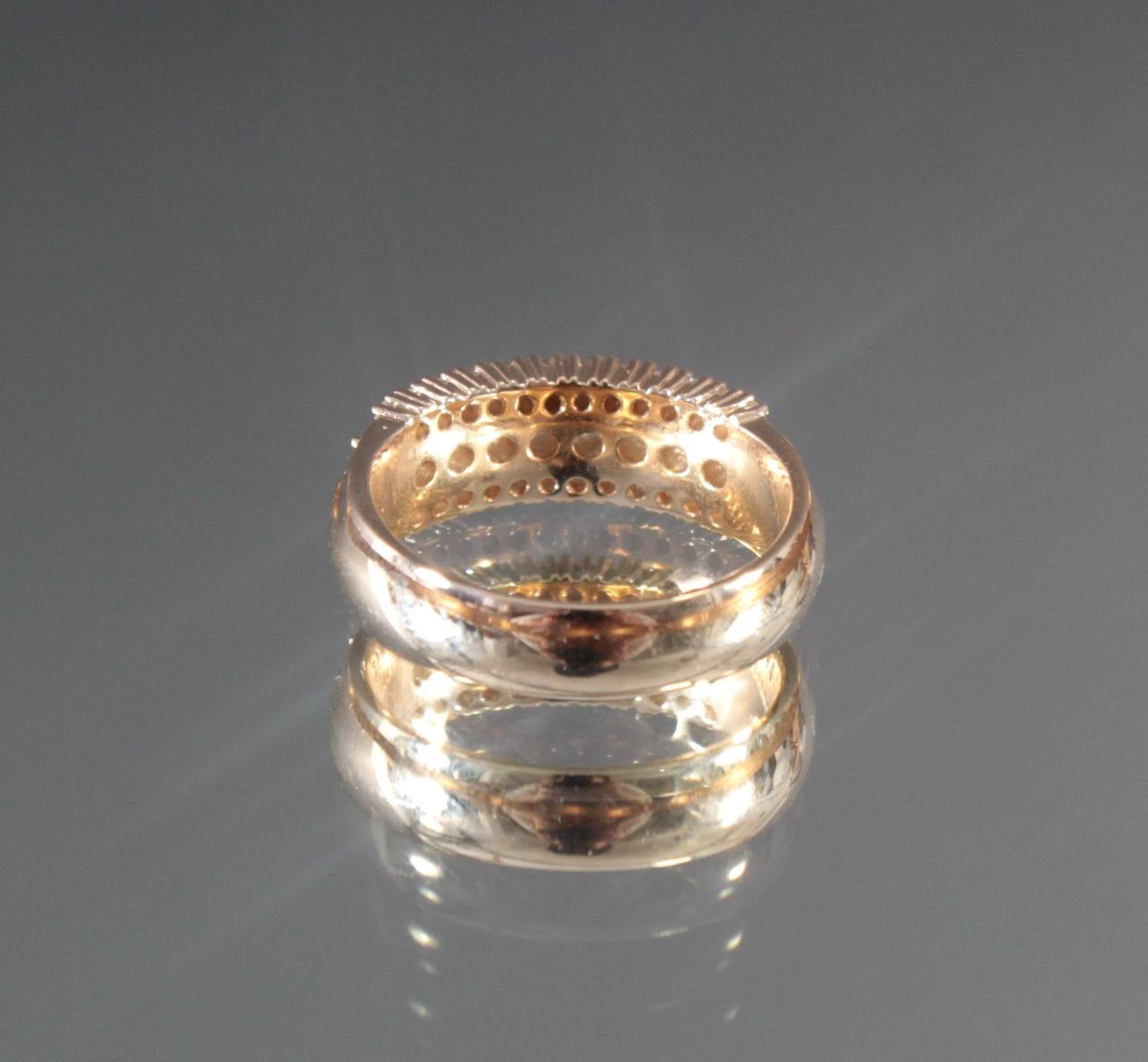 Damenring mit Diamanten aus 14 Karat Gelbgold-4