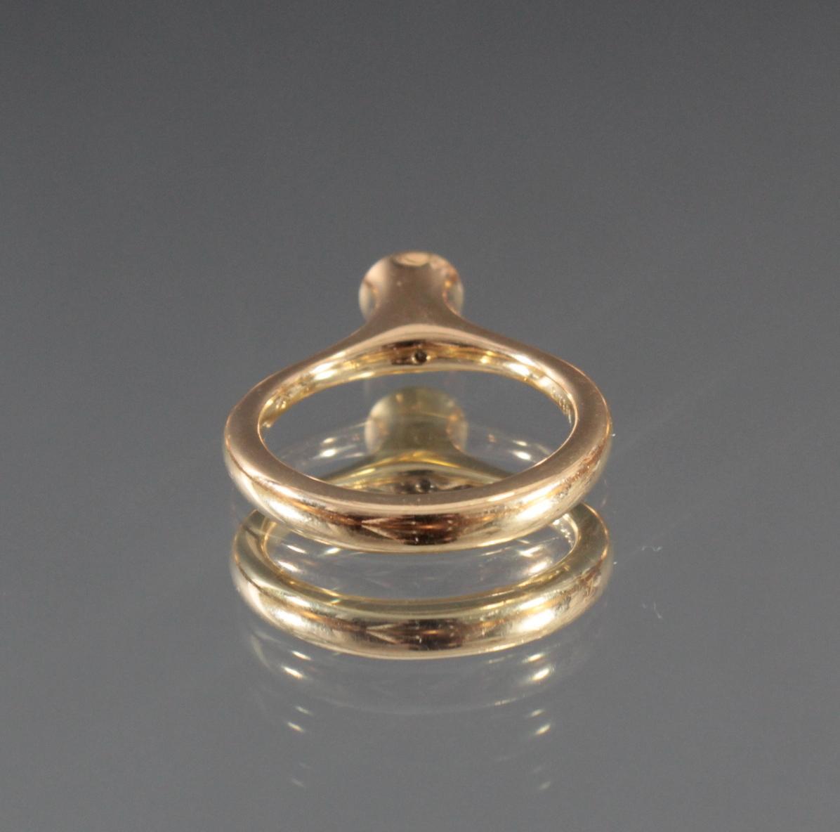 Damenring aus 18 Karat Gelbgold mit Diamant-4