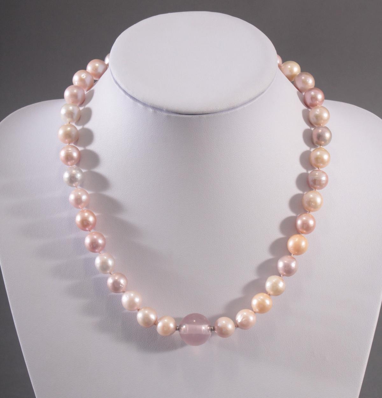 Perlenkette mit Rosenquarz